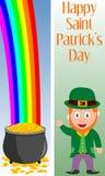 2 sztandarów dzień Patrick s st Zdjęcia Stock