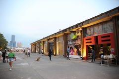 2 sztuk centrum Kaohsiung molo Fotografia Stock