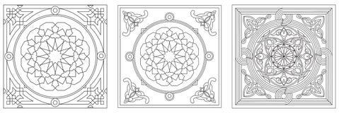 2 sztuk egipski tkaniny kreskowego stylu namiot Obrazy Stock