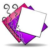 2 sztuki abstrakcjonistycznej logo miejsc sieci ilustracja wektor
