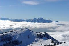 2 szwajcarskie alpy Fotografia Royalty Free