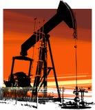 2 szyb naftowy Zdjęcie Royalty Free