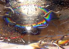 2 tęczową kropli wody Zdjęcia Royalty Free