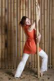 2 tło bambusa dziewczyna Zdjęcie Royalty Free