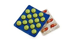 2 tablettes de capsules photo stock