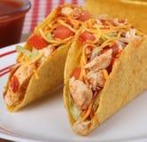 2 Tacos цыпленка Стоковая Фотография RF