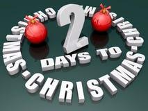 2 Tage zum Weihnachten Stock Abbildung