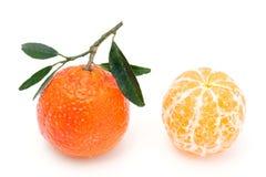 2 tangerines. Стоковое Изображение RF