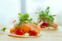 2 taquitos salmon Imagem de Stock Royalty Free
