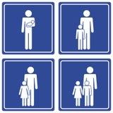 2 tata rodziny piktograf Zdjęcie Stock