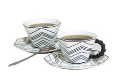 2 tazas del café fuerte Imagen de archivo libre de regalías