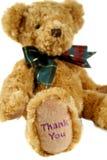 2 teddy σας ευχαριστούν Στοκ φωτογραφία με δικαίωμα ελεύθερης χρήσης