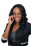 2 telefon komórkowy piękna kobieta Obrazy Stock