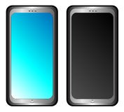 2 telefoons stock illustratie