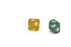 2 ten-sided dice Stock Images