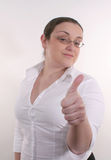 2 thumbs up Стоковое Изображение RF