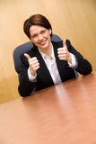 2 thumbs up! Royalty Free Stock Image