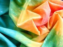 2 tkanina kolorowy farbujący krawat Fotografia Stock