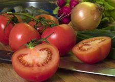 2 tomater Fotografering för Bildbyråer