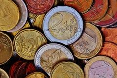 2 Tone 2 Euro Coin Stock Photo