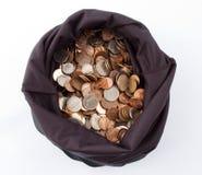 2 torby pieniędzy Obrazy Royalty Free