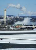 2 torres del humo Foto de archivo libre de regalías