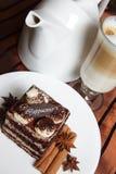 2 tortowy cappuccino Fotografia Royalty Free