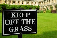 2 trawy utrzymanie z znaka Fotografia Royalty Free
