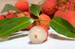 2 tropiska frukter Arkivfoto