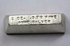 Free 2 Troy Ounce Silver Bullion Bar Stock Photography - 32607602