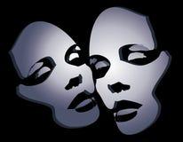 2 twarz kobiety maski 2 royalty ilustracja