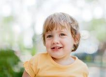 2 van het babyjaar meisje Royalty-vrije Stock Foto's