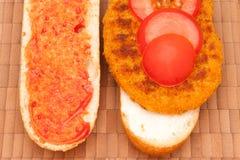 2 vegetarisches schnitzel Стоковая Фотография RF