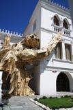 2-verhaal Luiaard bij het Museum van de Geschiedenis van het Quito Stock Foto