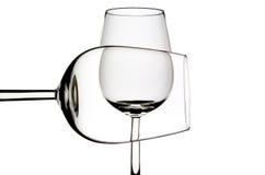 2 vidrios de vino Foto de archivo libre de regalías