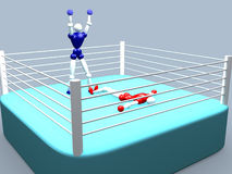 2 VOL. боксеров Стоковые Изображения RF