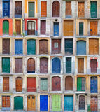 2 VOL. Испании дверей barcelona передних Стоковые Изображения
