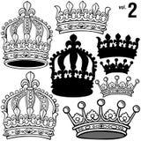 2 VOL. крон королевских Стоковое Изображение