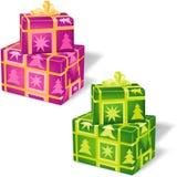 2 VOL. рождества коробки Стоковые Фото