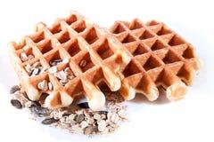 2 Waffles от объединенное wholegrain Стоковые Фото
