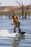2 wakeboarding的jleee 库存照片
