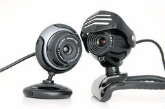 2 Web-cámaras Imagenes de archivo