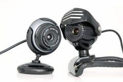 2 Web-câmeras Imagens de Stock
