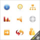 2 wektora ikon sieci Obrazy Stock