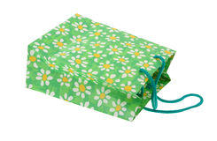 2 white dekoracyjny toreb na zakupy Obraz Stock