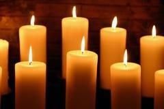 2 świece. zdjęcia royalty free