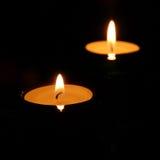 2 świeczki Obraz Stock