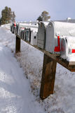 2 wiejskiej szlaki zimy. Zdjęcie Stock