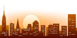2 wielkiego miasta Zdjęcie Stock
