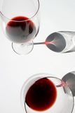 2 wijnglazen Royalty-vrije Stock Afbeeldingen